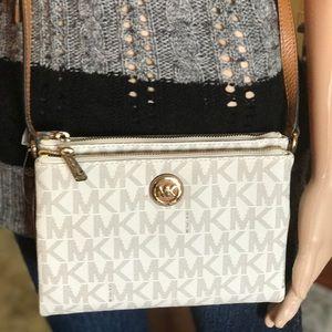 571cb9d30ebf Michael Kors Bags - MICHAEL KORS Fulton EW Double zip Crossbody bag